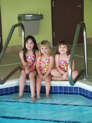 My girls at the pool