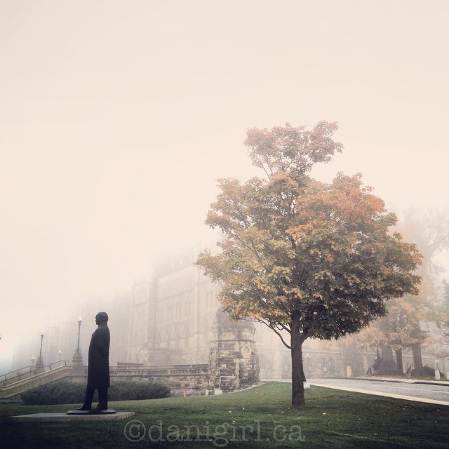 Foggy morning on Parliament Hill