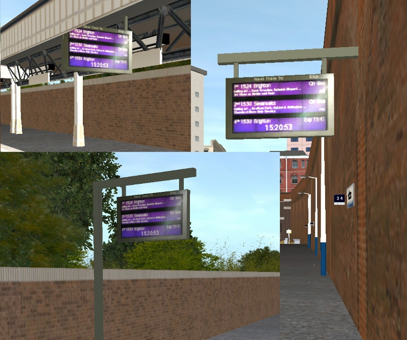 British Trainz • View topic - Modern Station Signage