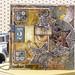 Stampendous Steampunk Autumn silver stars card