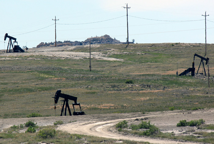 The Rocky Mountain Oilfield Test Center, RMOTC, which includes a small areas with active oil and gas production.