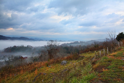 autumn mountains fall fog virginia scottcounty
