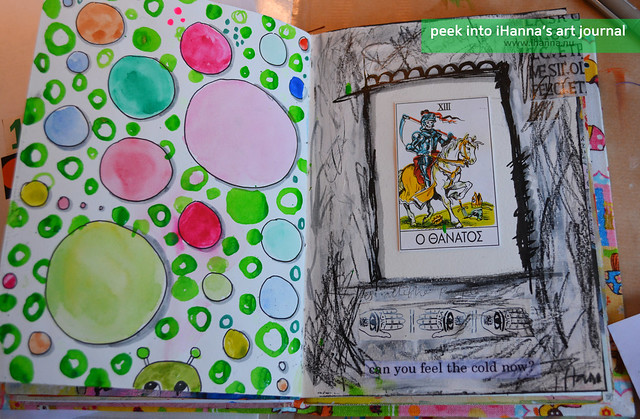 Art Journal Peek: Life Bubbles and Death