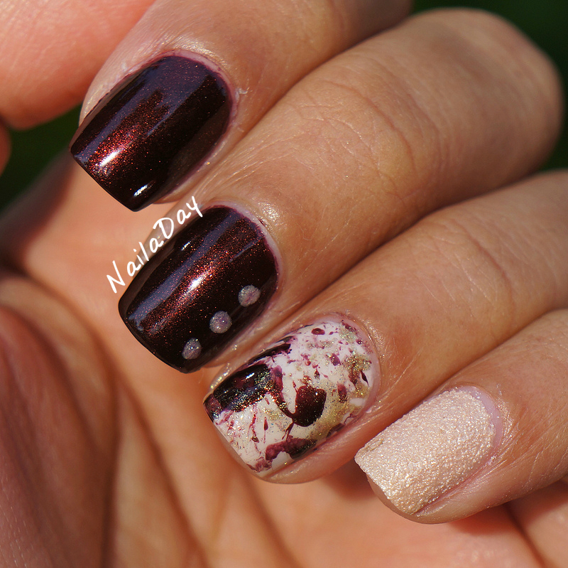 NailaDay: Sinful Colors Mercury Rising splatter skittlette