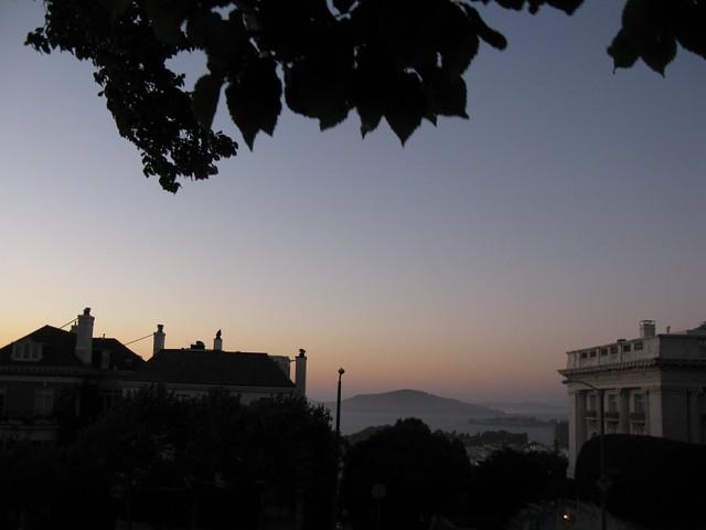 Zachód słońca z widokiem na Alcatraz