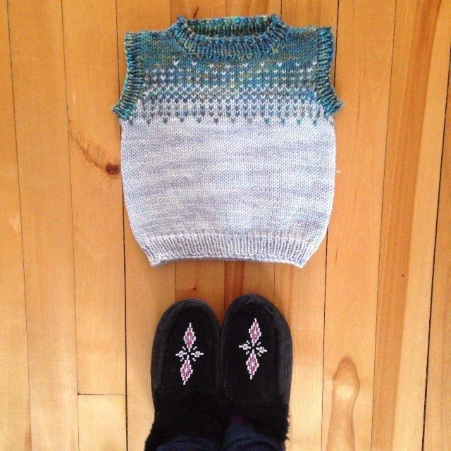 Today on the blog: hinting at a new collection of baby knits that I'm working on.
