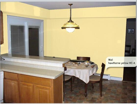 Lemon Sorbet Benjamin Moore help my parents pick a kitchen paint color?