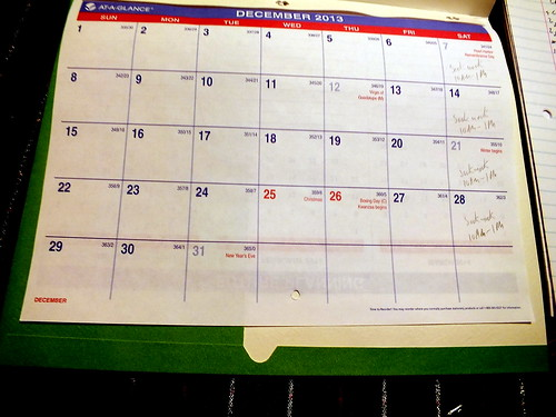 December 2013 diary