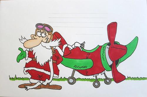 Santa and his plane