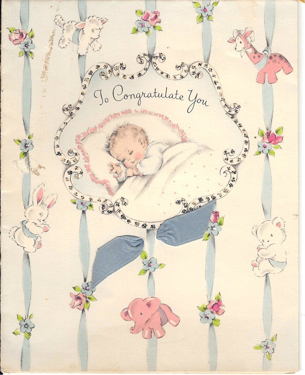baby shower, vintage postcards, greeting card, vintage greeting card,  card, felicitation, old fashion,  vintage baby,  baby shower card, baby shower postcard,