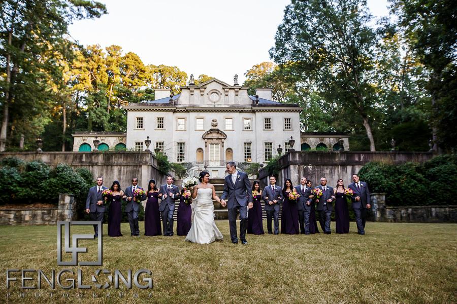 Fusion Indian Wedding at Atlanta History Center's Swan House Mansion
