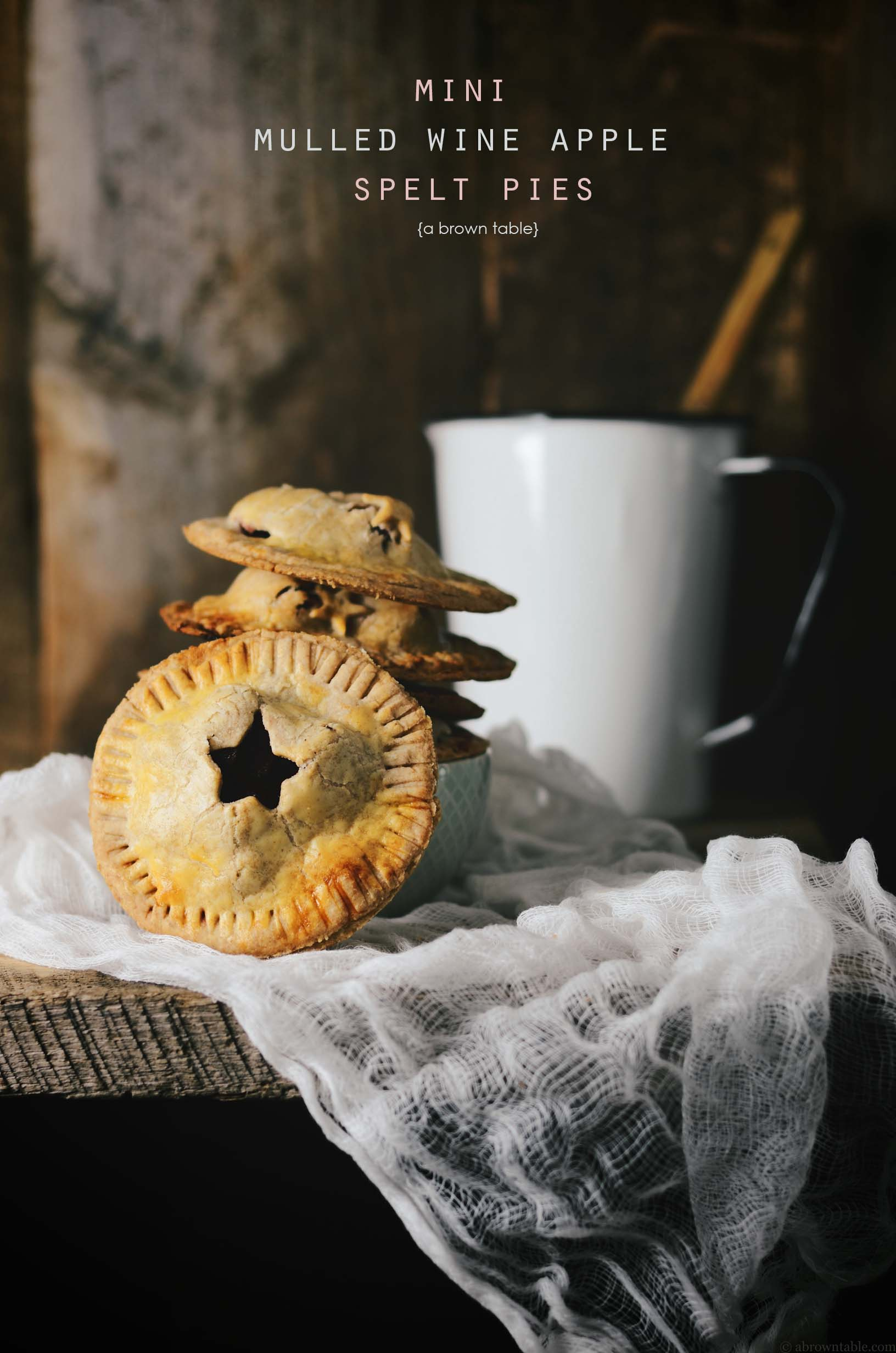 mini spelt pies with mulled wine