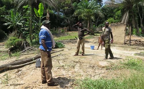 destroyed TL2 camp at Obenge