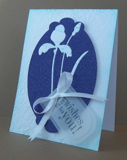 Iris die cut Birthday Card