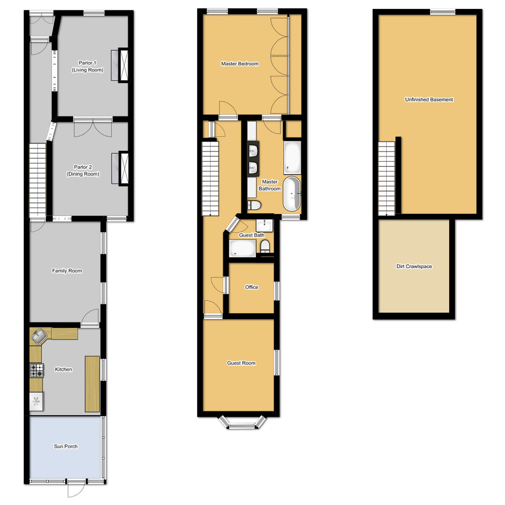 Floor plans for long narrow houses house design plans for Narrow home floor plans