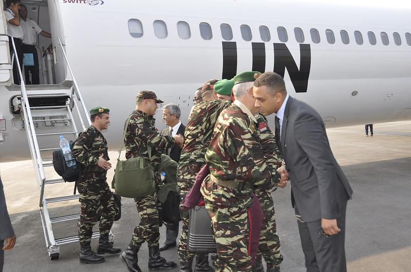 02 Janvier 2014 : le premier contingent marocain de l'Unité de gardes des Nations unies en RCA