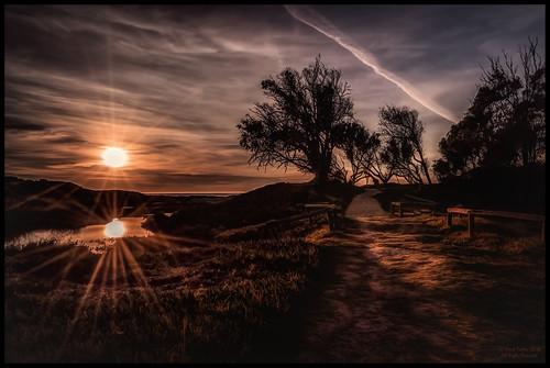 california sunset reflection art beach nikon ray path grover pismo hdr alienskinsoftware d7000 promoteremotecontrol ©markpatton