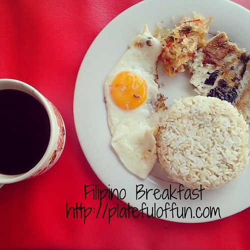 Filipino breakfast with brewed coffee. Nom.