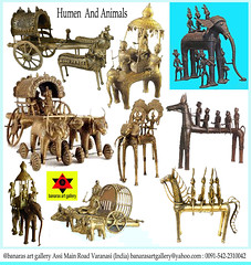 Human and Animals @ banaras art gallery Assi Main Road Varanasi India