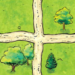 Road Tile - Crossroads