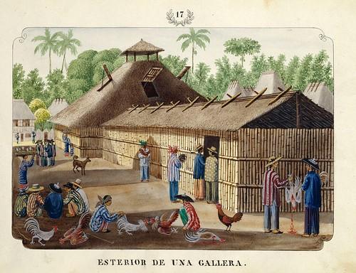 006-ESTERIOR sic DE UNA GALLERA-Vistas de las Yslas Filipinas y Trages…1847-J.H. Lozano- Biblioteca Digital Hispánica