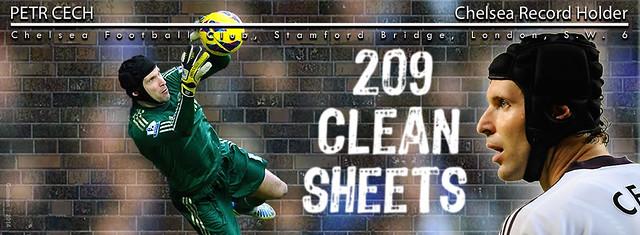 Petr Cech 209 Clean Sheets FBC