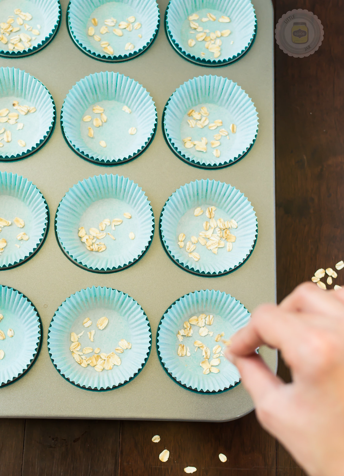 Super Moist and Healthy Carrot Cake Muffins Oatmeal Sprinkle Pan 1