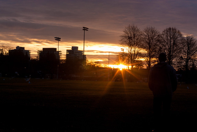 Watching the sunrise at UBC on New Year's Day