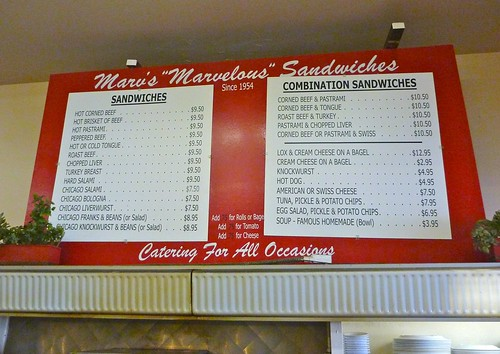 Marv's Deli Menu - Photo by Keith Valcourt