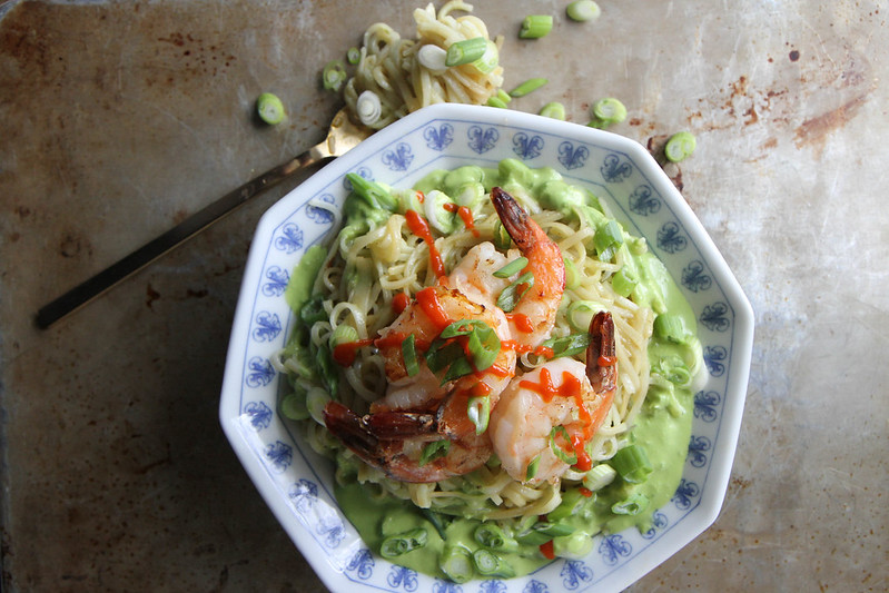 Stir Fried Rice Noodles with Shrimp and Green Onion Vinaigrette ...
