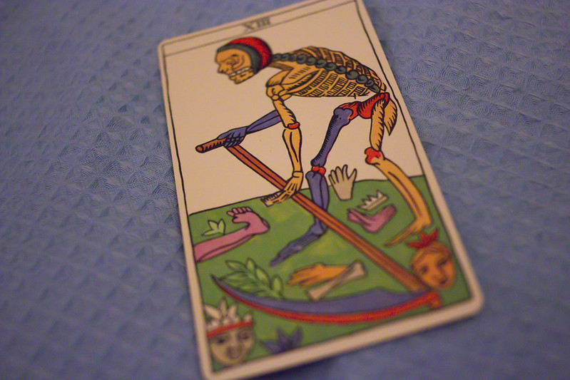 Saturday, December 28: Whyyyy does the death card always show up for me? Screw change.