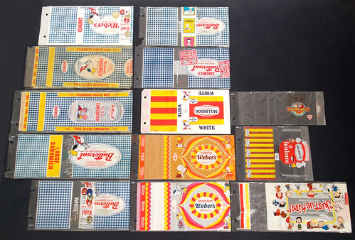 Old Vintage Peanuts / Snoopy bread baked goOds wrappers