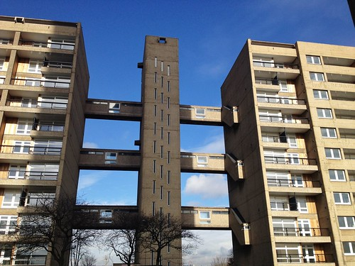 British Brutalist Architecture in the East End of London - Carradale House in Poplar