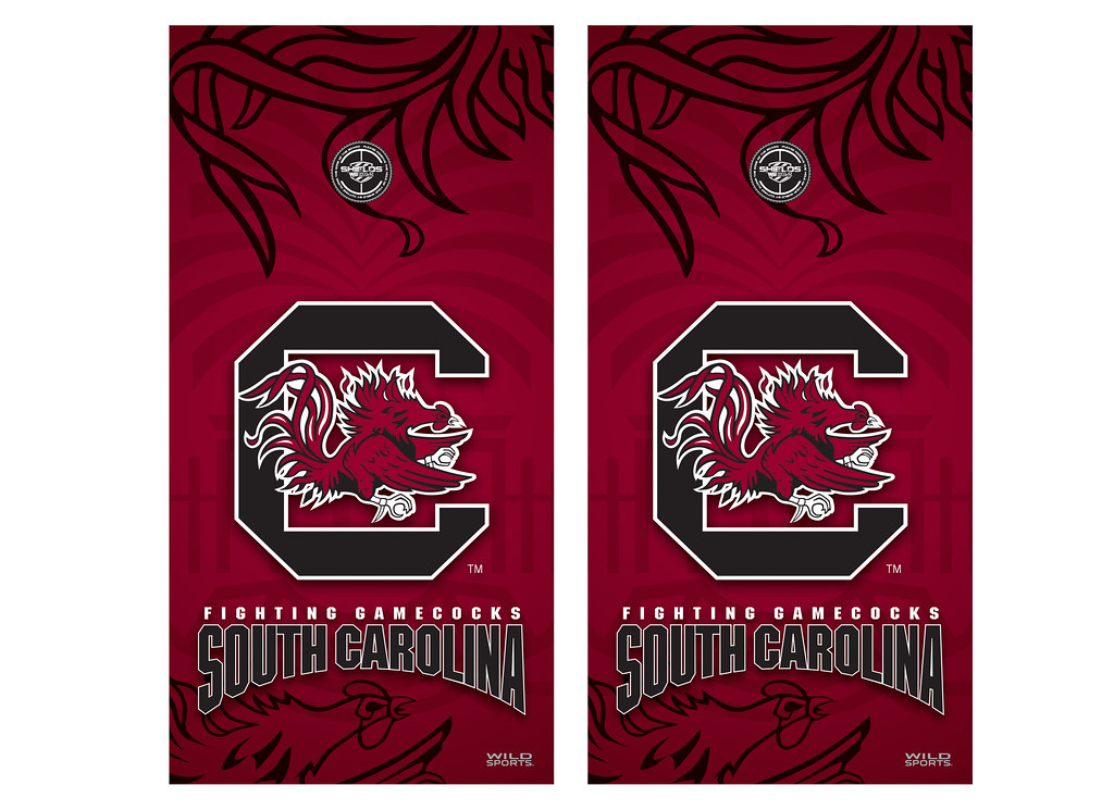 south carolina cornhole game decal set - Cornhole Board Wraps