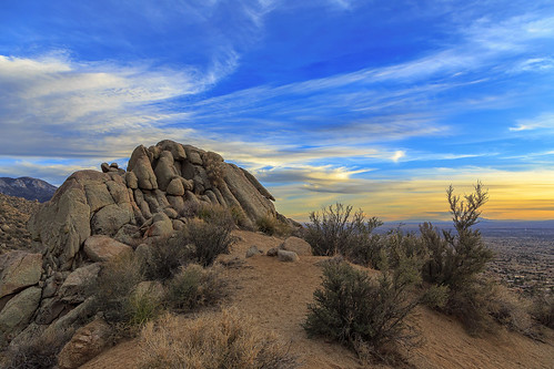sunset sky mountains newmexico southwest clouds landscape rocks day desert cloudy albuquerque rockymountains nm sandia