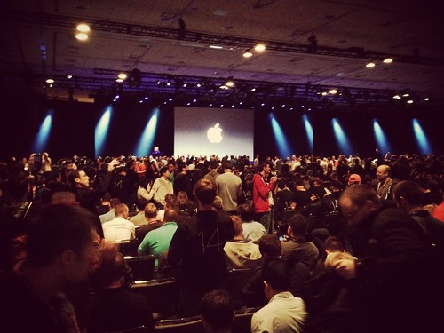 Oceans of apple fans #wwdc