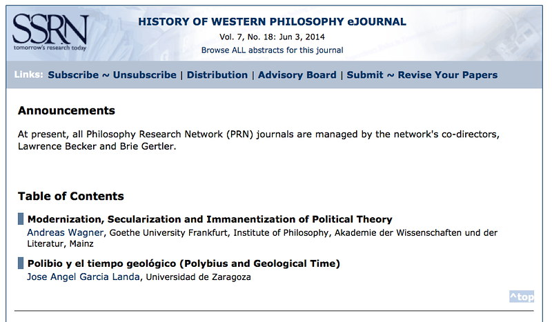 Polibio y el tiempo geológico