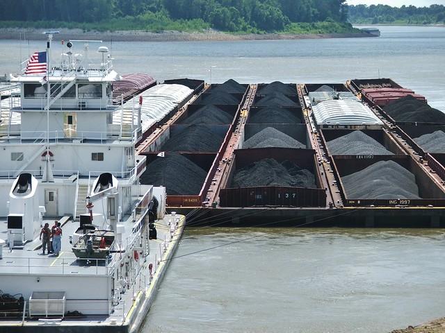a coal barge