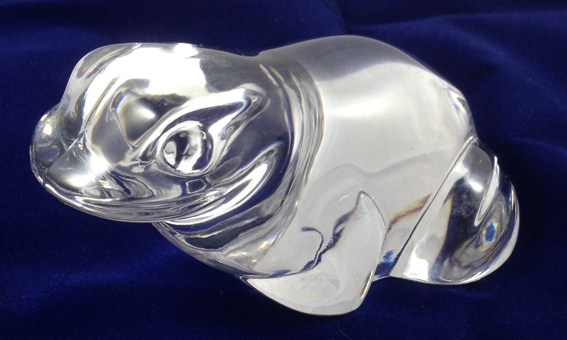 Villeroy boch crystal figurine frog snail pair ebay for Villeroy boch crystal