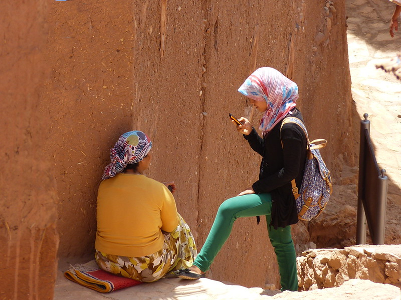 Girls in Ait Benhaddou