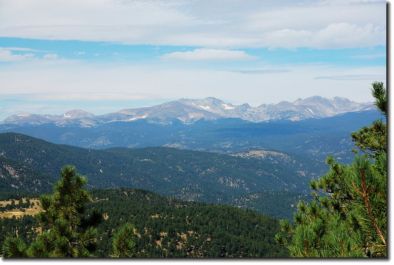 Indian Peaks as seen from Green Mt. view to West 2