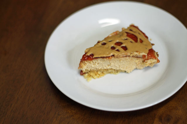 Peanut butter and jelly pie with Saltine Crust