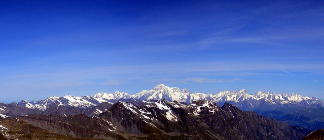 Mont Blanc from Gran Paradiso