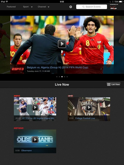 "WatchESPN on iOS puts ""Replay"" tab in a different place"