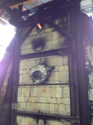 firing the wood kiln