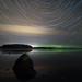 Lake Mälaren aurora by jarnasen