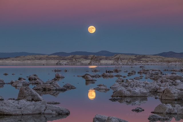 Super Moon Reflection