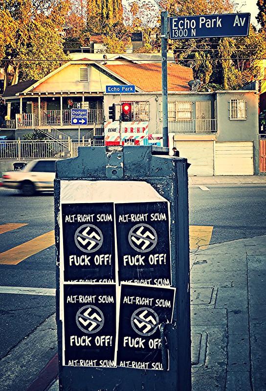 """Alt-Right Scum Fuck Off!"" posters"