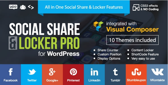 Social Share & Locker Pro Wordpress Plugin v6.9