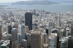 Aerial view of the Financial District, San Francisco, California